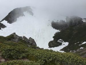 乗鞍残雪の山