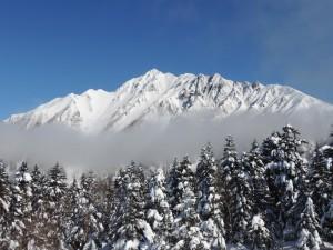「絶景!!冬の北アルプス」と「新穂高ロープウェイ」