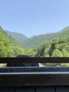 内湯(大浴場)からの景色