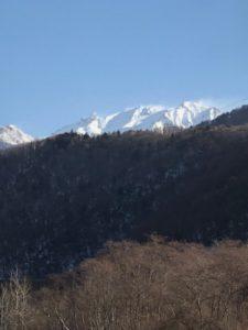 今朝の槍ヶ岳です。